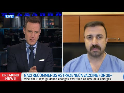Doctor criticizes NACI's advice: 'We're talking about four blood clots in the entire country'