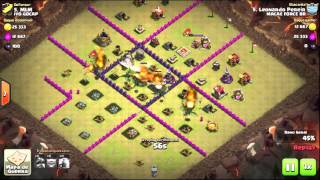 Clash of Clans - Ataque FULL Dragões nível 1 - CV7 vs CV7 na Guerra