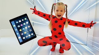 Download Diana as Ladybug jumped out of the tablet