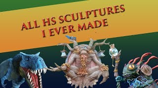 ALL HEARTHSTONE SCULPTURES I EVER MADE