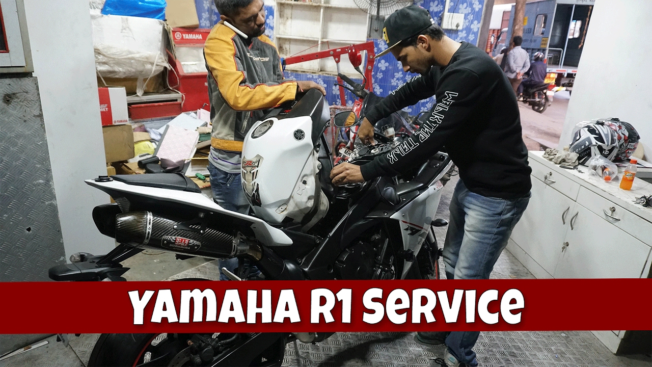 Yamaha motorcycle gloves india - Servicing Is Done Yamaha R1 Ft Cool Sameer Msk Vlogs India