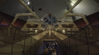 People Mover, Disney World, Space Mountain Lights On, Low Light POV HD 1080p 60fps
