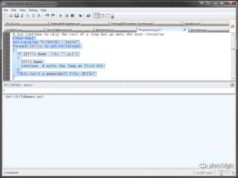 Windows Power Shell Tutorial part 3  Powershell Programming