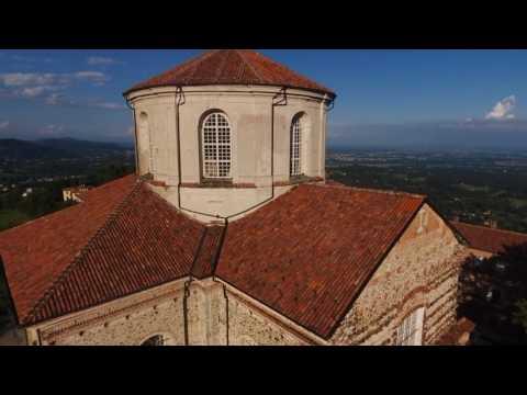 Il santuario di Graglia, visto dal drone