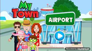 My town airport flying to england