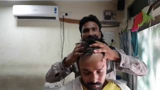 skin cracking head masseur  (an artist) time stamp - travel series video 11
