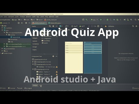 Android App Project : Simple Quiz App (Android Studio + Java)