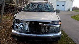 Hit a deer totalled it