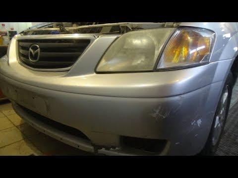 Как снять передний бампер, Mazda MPV.