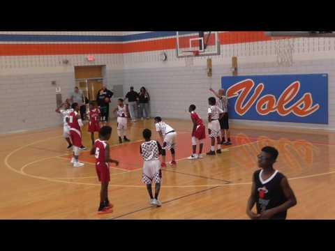 Ft Worth Mustangs 12U Basket Ball vs Mansfield Razorbacks 02-25-17