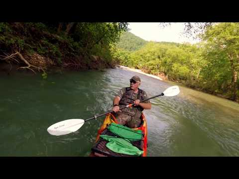 Beautiful Kayak Footage On The Buffalo River Near Hemmed In Hollow