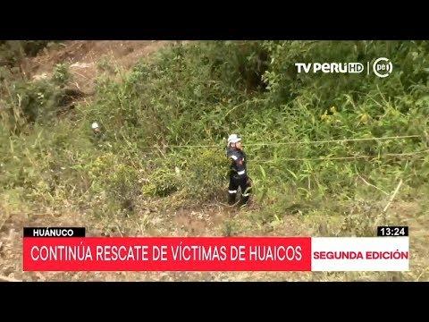 Huánuco: continúa el rescate de las víctimas por huaicos
