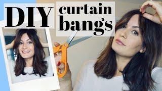 HOW TO CUT DIY CURTAIN BANGS! FACE FRAMING BARDOT BANGS | Step By Step Hair Cutting Tutorial (2019)