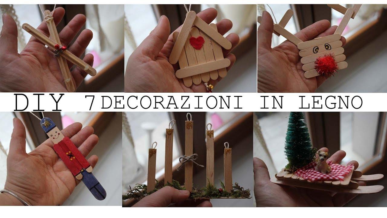 Decorazioni per natale fatte in casa in legno youtube