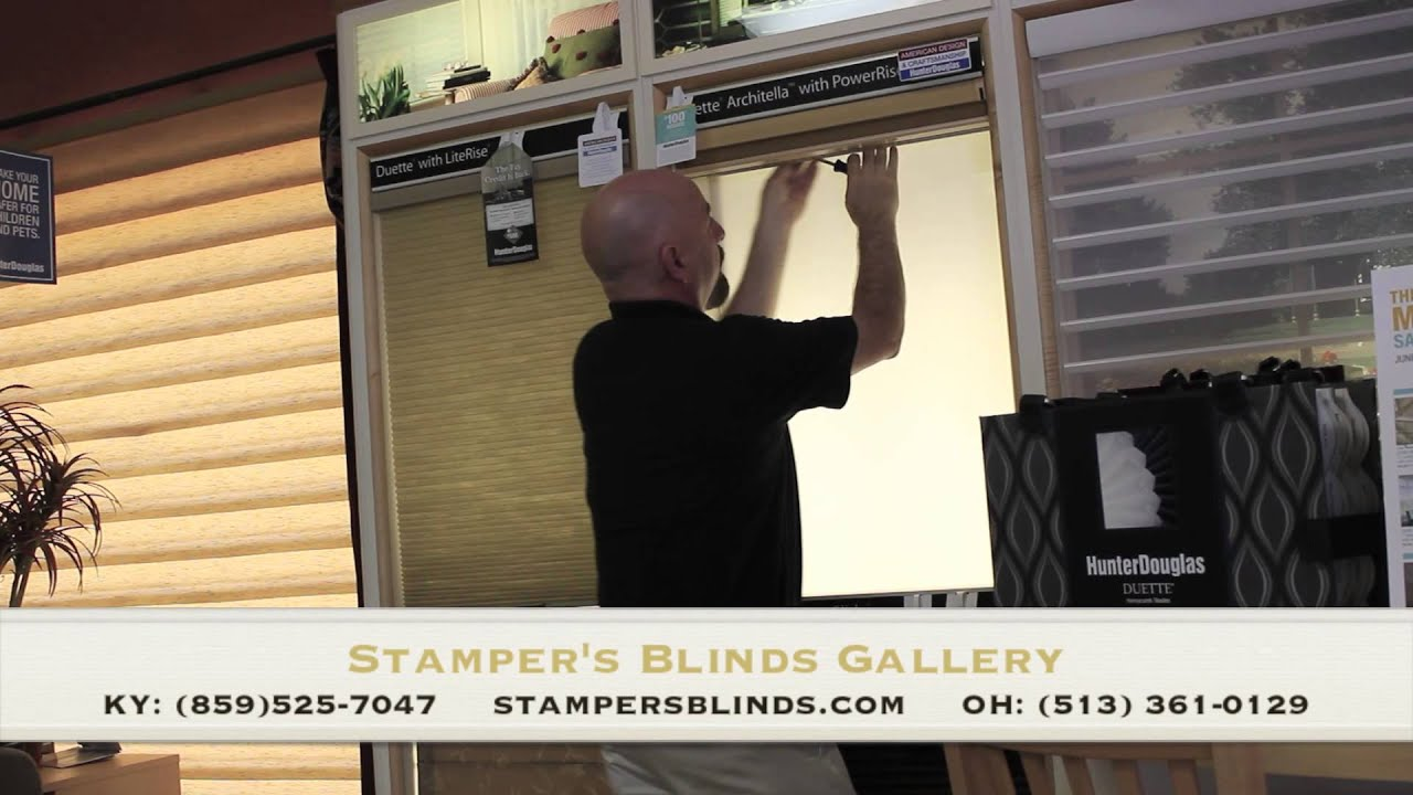 How To Remove Or Take Down A Hunter Douglas Duette Honeycomb Shade By Stamper S Blinds Gallery