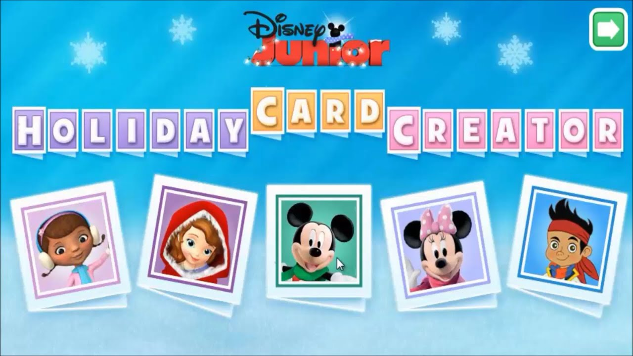 Disney Junior Card Creator Mickey Mouse Clubhouse Disney Jr