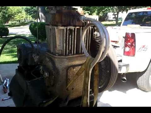 Quincy Compressor Qr 25 Pump Model 340 10 Hp Youtube
