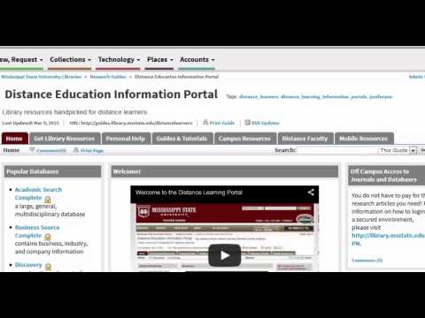 Distance Education Information Portal