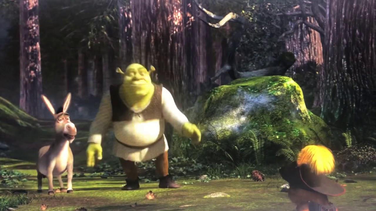 Shrek 2 Puss In Boots Attacks Shrek Youtube