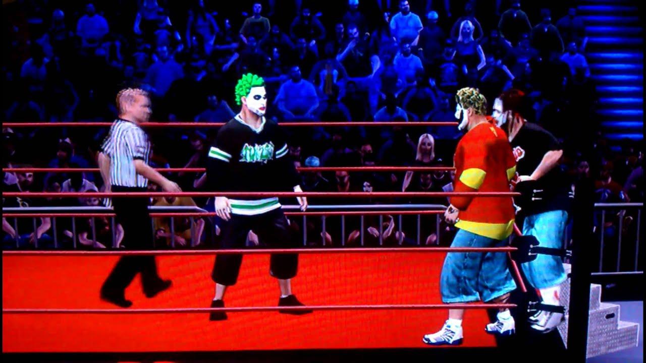 icp vs twiztid jcw wwe12 tornado tag match youtube