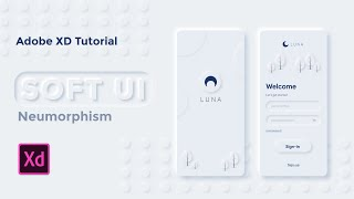 Easy Soft UI/Neumorphism - Adobe XD tutorial pt.1 [2020] screenshot 1