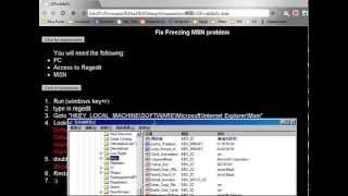 MSN Freezing problem FIXED