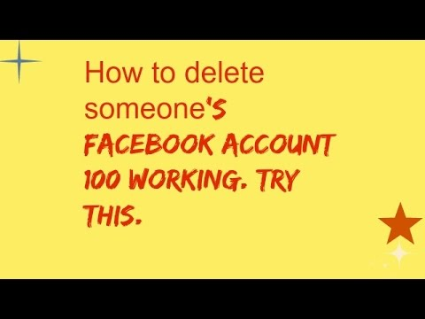 How to delete someones facebook account 100 working try this how to delete someones facebook account 100 working try this ccuart Images