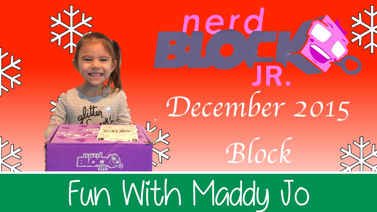 Nerd Block Jr for Girls - December 2015 Block - YouTube