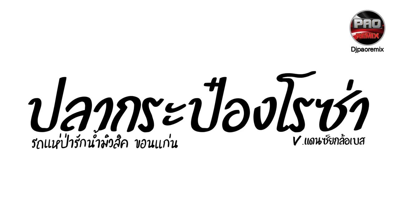 #กำลังฮิตในTikTok ( ปลากระป๋องโรซ่า - รถแห่ป่ารักน้ำมิวสิคขอนแก่น) V.แดนซ์ยกล้อเบส Pao Remix