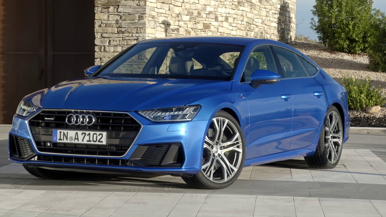 2018 audi a7 sportback blue footage youtube. Black Bedroom Furniture Sets. Home Design Ideas