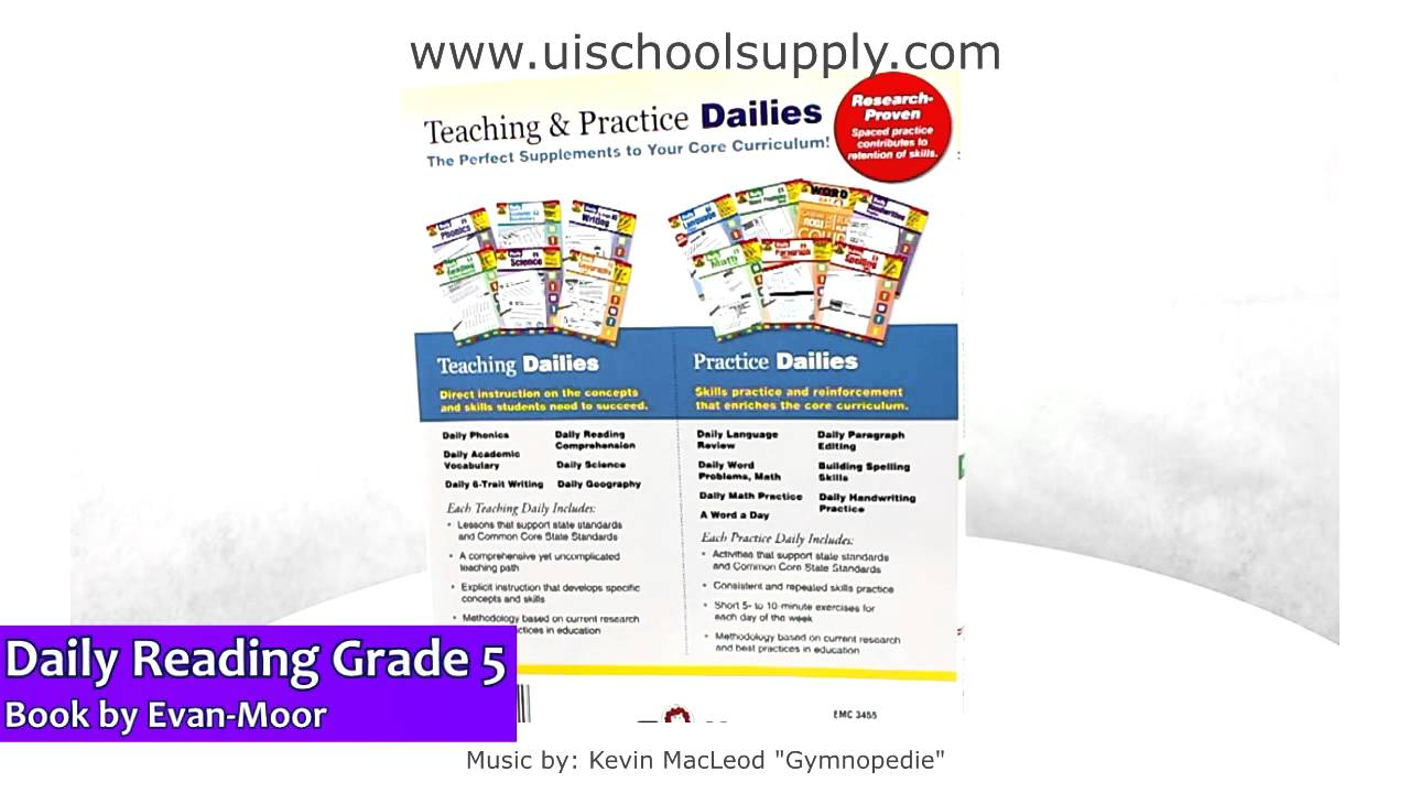 medium resolution of Daily Reading Comprehension Grade 5 book by Evan-Moor EMC3455 - YouTube