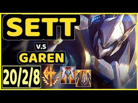 CAEDREL (SETT) vs GAREN - 20/2/8 KDA MID GAMEPLAY - EUW Ranked MASTER