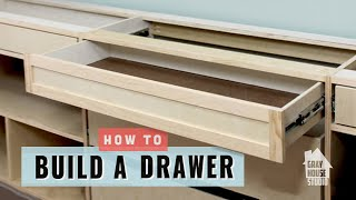 In this video we will walk you through the steps, tools and materials you will need to to build a drawer and install a drawer. Follow