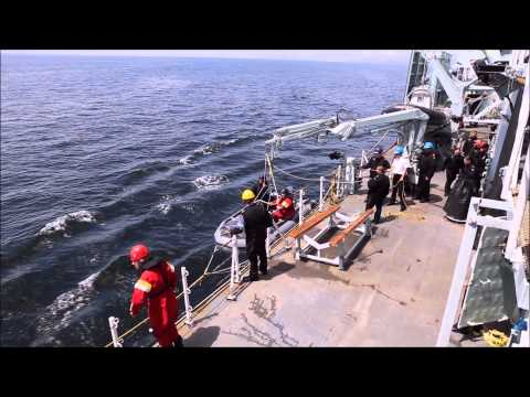 HMCS Winnipeg - Man Overboard  and Recovery Drill