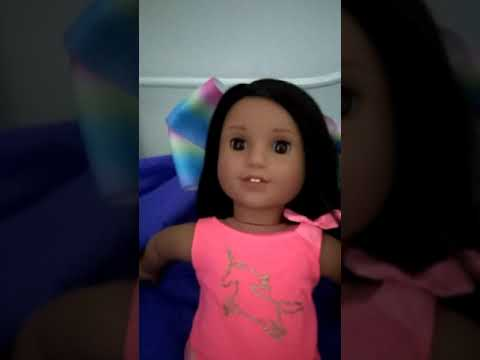 How to make goth bangs on your American girl doll