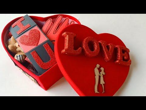 Best Valentine Gift For Girlfriend Boyfriend Valentines Special Heart Love Hamper Youtube