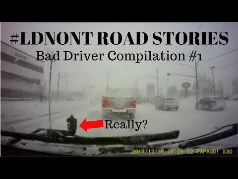 Bad Driver Compilation #1 | London, Ontario