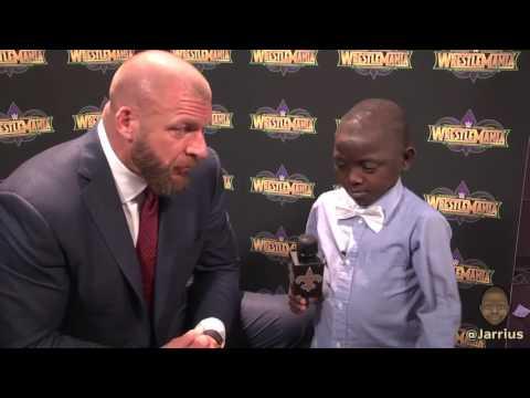 Jarrius takes over WWE WrestleMania media day