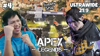 """Turun Ke Pesawat Full Senjata!!"" Apex Legends Part 4 (UltraWide 21:9)"
