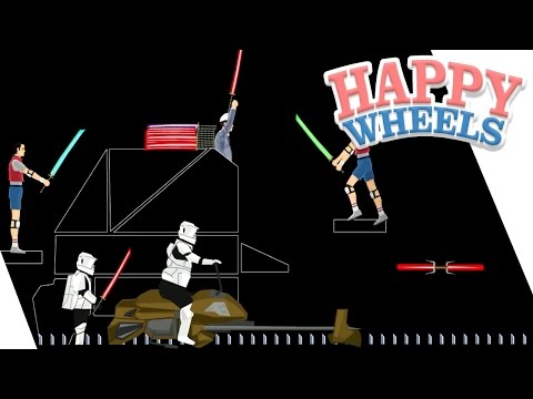 Happy Wheels: Sword Throw Star Wars - Part 347