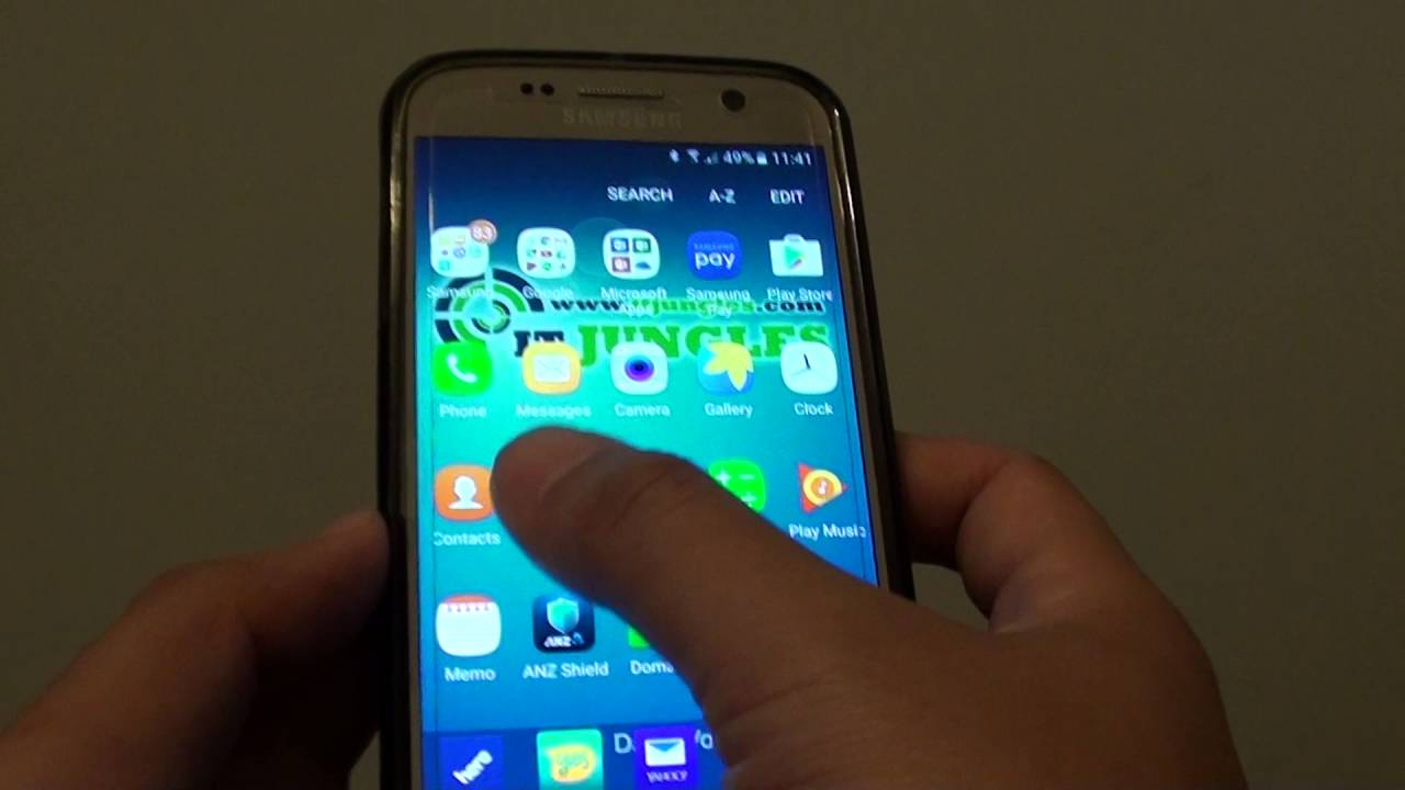 Calendrier Samsung S7.Samsung Galaxy S7 How To Display A Calendar On Lock Screen