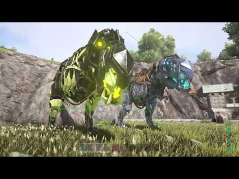 ARK SURVIVAL EVOLVED PS4 HOW TO GET THE BIONIC REX AND CUSTOMIZE IT