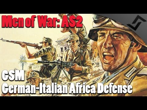 German-Italian Africa Defense - German Soldiers Mod - Men of War: Assault Squad 2 Mod Gameplay