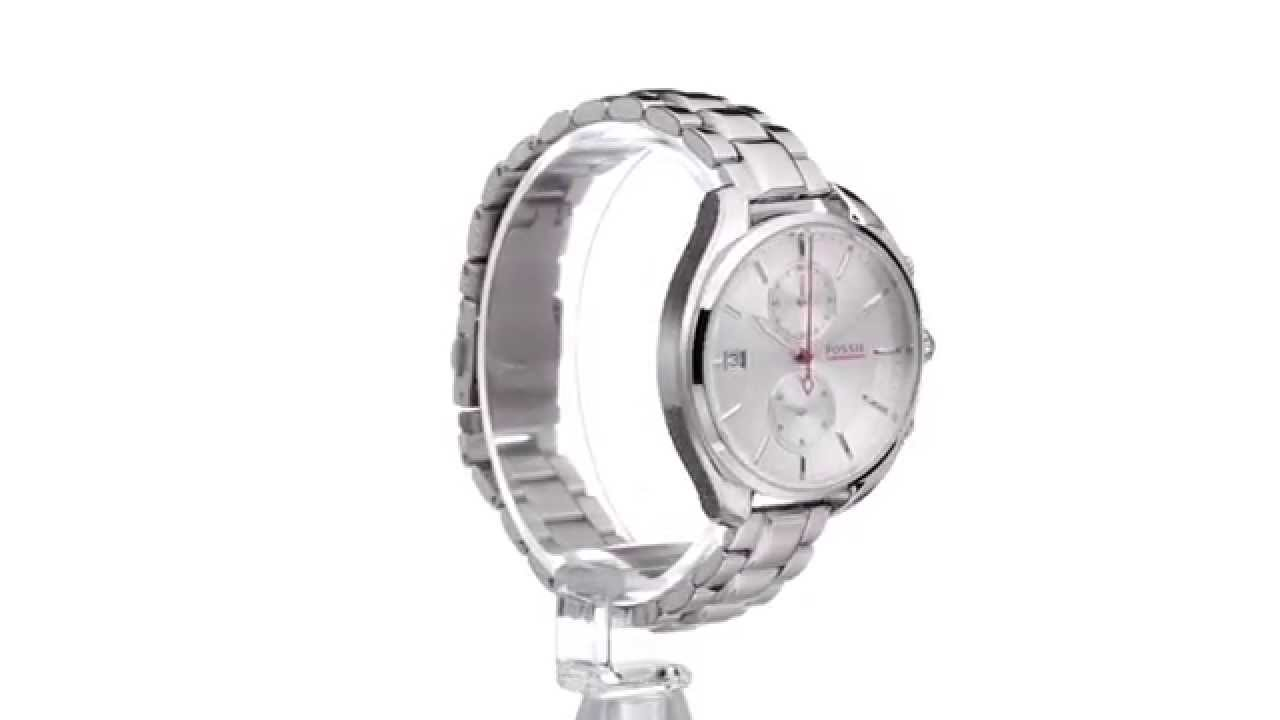Fossil Land Racer Stainless Steel Ch2975 Sku8573359 Youtube Ch2977