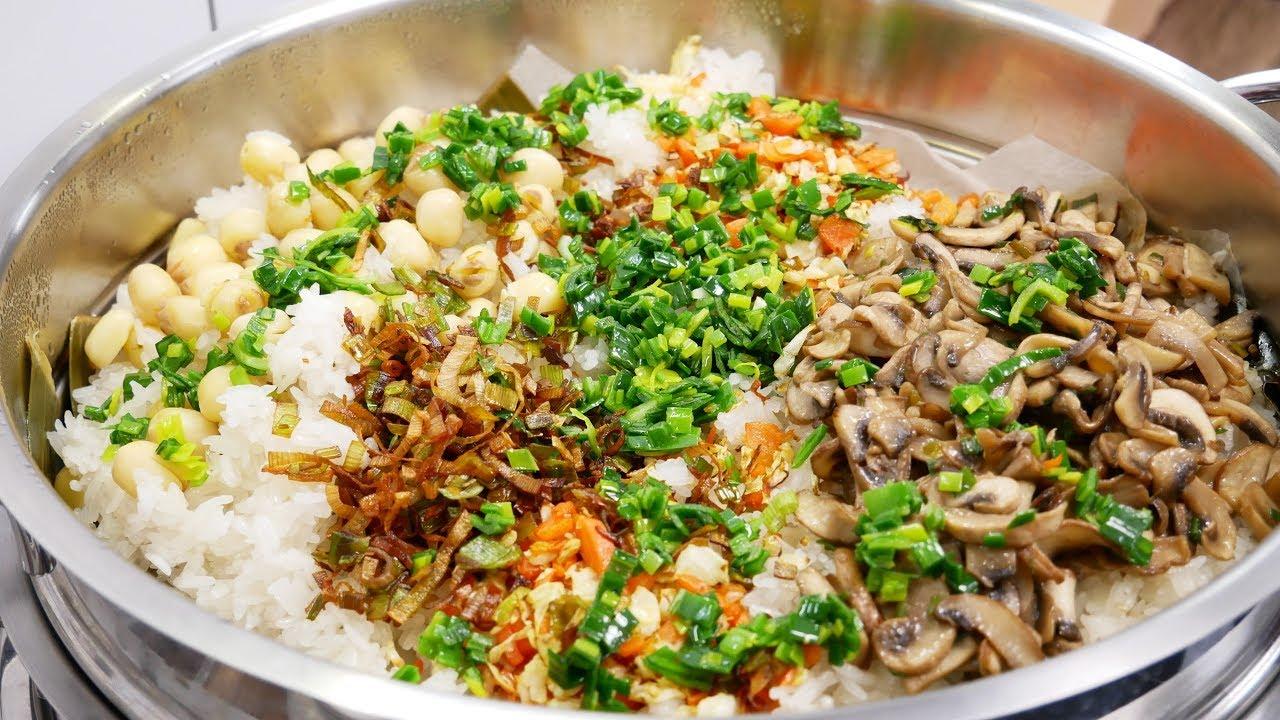 XÔI CHAY nấu CẤP TỐC – Bí quyết nấu Xôi mặn Thập cẩm Chay dẻo mềm thơm ngon tuyệt vời by Vanh Khuyen