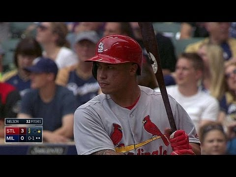 STL@MIL: Wong connects for a two-run homer