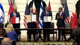 video: Trump hails 'new dawn' in Middle East as Israel, UAE and Bahrain sign diplomatic deal at White House