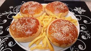 Chicken Pizza Burgers چکن پزا برگر / Cook With Saima