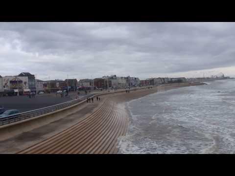 Blackpool Pleasure Beach, Irish sea