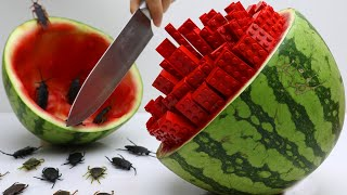 Stop Motion Cooking Making LEGO IRL Recipe From Watermelon Unusual Hacks 4K | Cuckoo